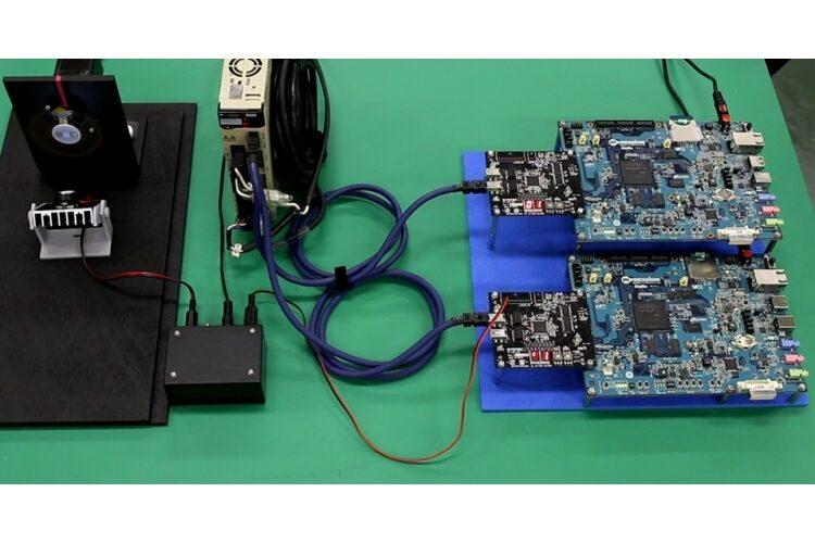 複数スレーブ間での高精度同期デモ公開